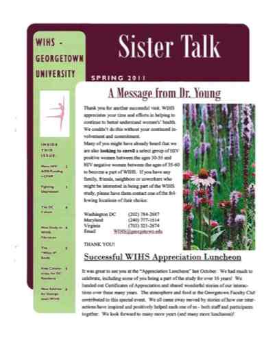 cover image of 'Sister Talk' Spring 2011
