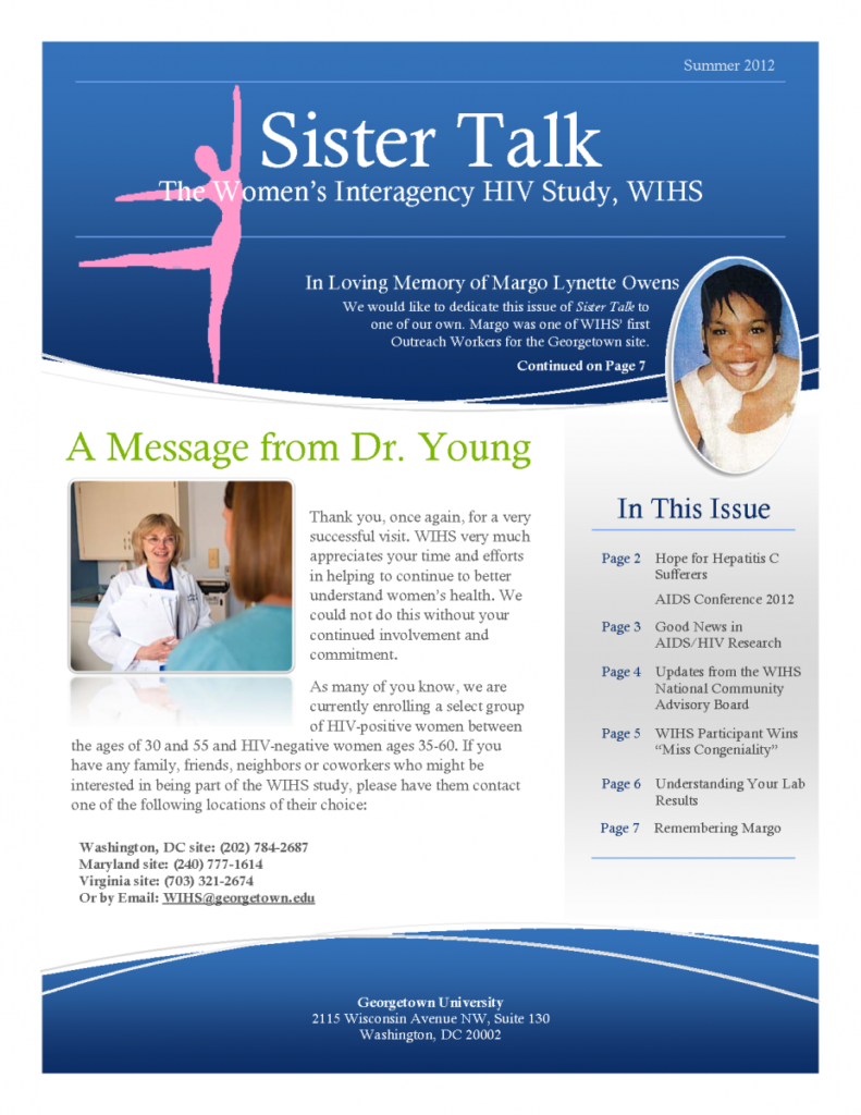 cover image of 'Sister Talk' Summer 2012