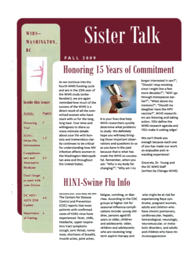 cover image of 'Sister Talk' Fall 2009