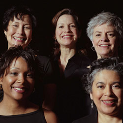 photo of five women with smiles
